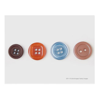 Close-up of buttons postcard