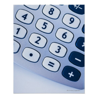close-up of calculator buttons poster