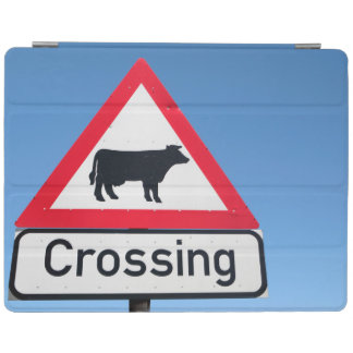 Close-Up Of Cattle Crossing Sign. Western Cape iPad Cover