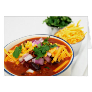 Close-up Of Chili Beans Card