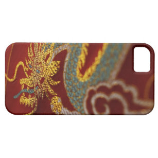 Close up of Chinese silk Case For The iPhone 5
