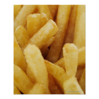 Close-up of French fries Poster