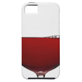 Close up of glass of red wine on white iPhone 5 covers