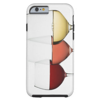 Close up of glasses of different wines tough iPhone 6 case