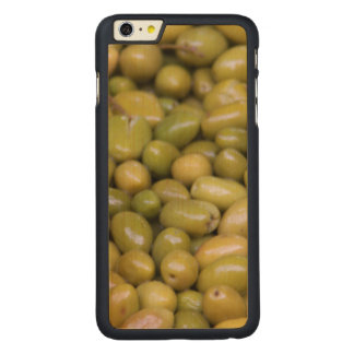 Close Up Of Green Olives Carved Maple iPhone 6 Plus Case