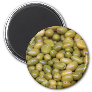 Close Up Of Green Olives Magnet