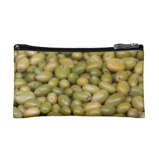 Close Up Of Green Olives Makeup Bag