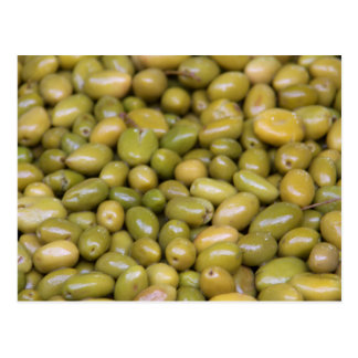 Close Up Of Green Olives Postcard