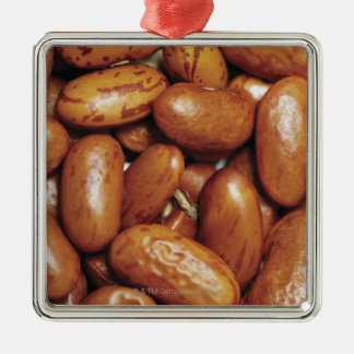 Close-up of kidney beans metal ornament