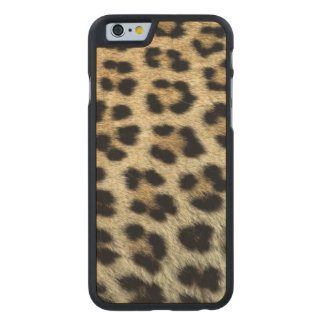 Close up of Leopard spots, Africa Carved® Maple iPhone 6 Slim Case