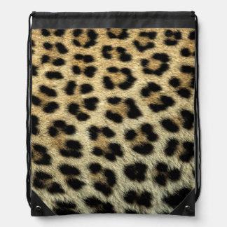 Close up of Leopard spots, Africa Drawstring Bag