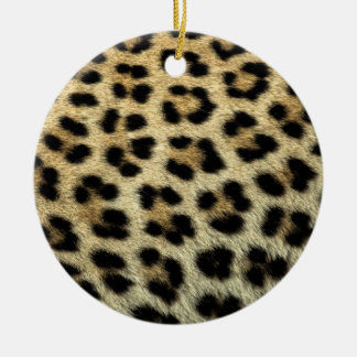 Close up of Leopard spots, Africa Round Ceramic Ornament