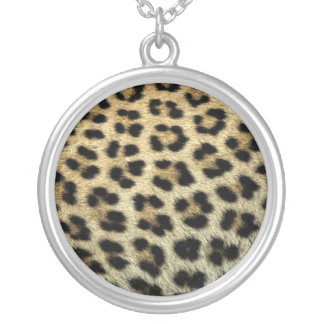 Close up of Leopard spots, Africa Silver Plated Necklace