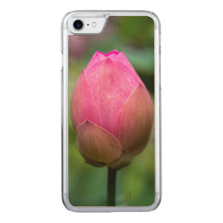 Close-up of lotus flower bud, Bali Carved iPhone 8/7 Case