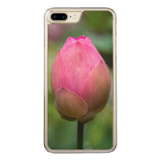 Close-up of lotus flower bud, Bali Carved iPhone 8 Plus/7 Plus Case