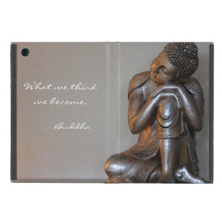 Close up of peaceful silver Buddha iPad Mini Cover