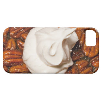 close up of pecan pie with whipped cream iPhone 5 cases
