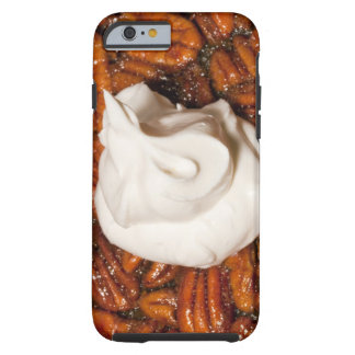 close up of pecan pie with whipped cream tough iPhone 6 case