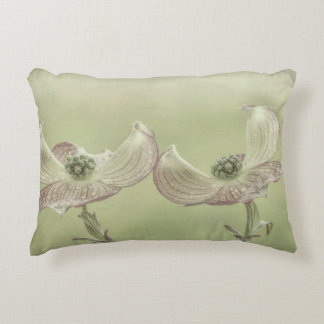 Close-up of Pink Dogwood Blossoms | Seabeck, WA Accent Pillow