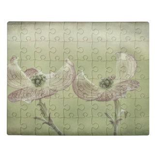 Close-up of Pink Dogwood Blossoms | Seabeck, WA Jigsaw Puzzle