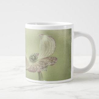 Close-up of Pink Dogwood Blossoms | Seabeck, WA Large Coffee Mug