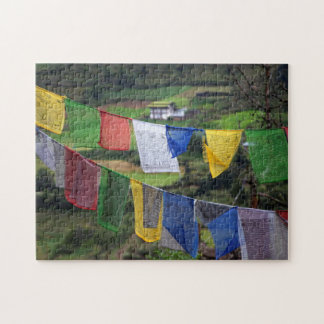 Close Up Of Prayer Flags Jigsaw Puzzle