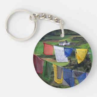 Close Up Of Prayer Flags Keychain
