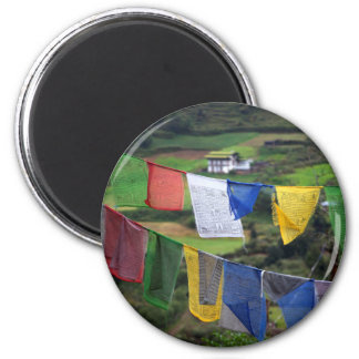 Close Up Of Prayer Flags Magnet