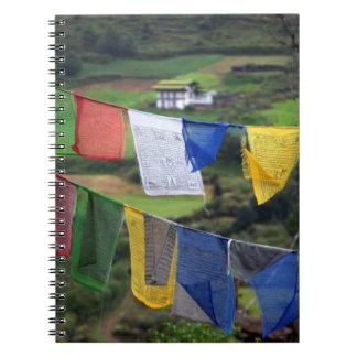 Close Up Of Prayer Flags Notebook