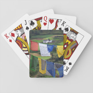 Close Up Of Prayer Flags Playing Cards
