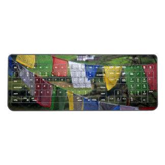 Close Up Of Prayer Flags Wireless Keyboard