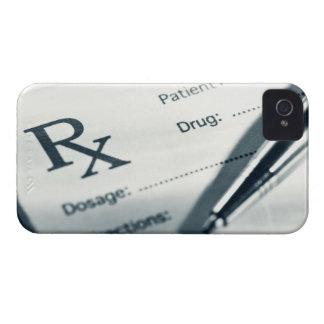 Close up of prescription pad and pen Case-Mate iPhone 4 case