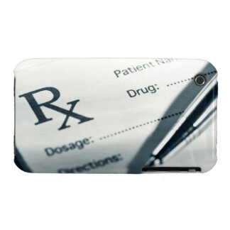 Close up of prescription pad and pen iPhone 3 Case-Mate case