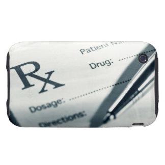 Close up of prescription pad and pen iPhone 3 tough case