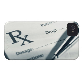 Close up of prescription pad and pen iPhone 4 covers