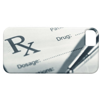 Close up of prescription pad and pen iPhone 5 cases