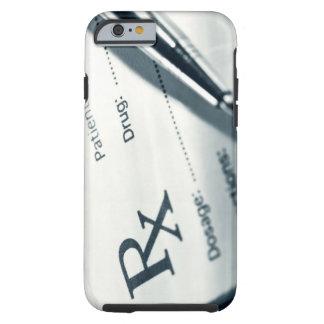 Close up of prescription pad and pen tough iPhone 6 case