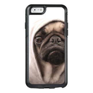 Close up of pug wearing hoodie. OtterBox iPhone 6/6s case