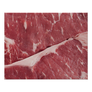 Close-up of raw steak poster