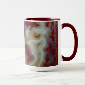 Close up of Red Moss Agate Slab Mug