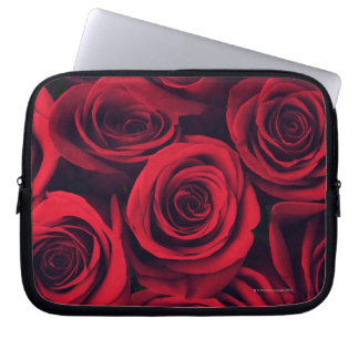 Close up of red rose flowers. laptop sleeve