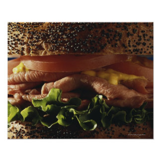 Close-up of sandwich poster