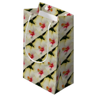 Close Up of Stamen And Pollen Yellow Hibiscus Small Gift Bag