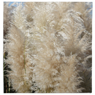 Close-Up of Tall Pampas Grass Plumes Napkin
