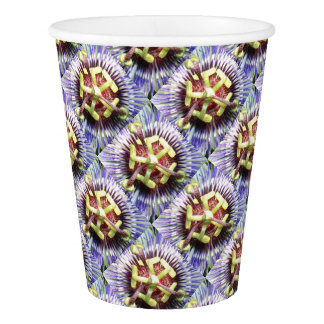 Close Up of The Centre Of a Passiflora Flower Paper Cup