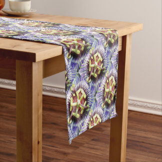 Close Up of The Centre Of a Passiflora Flower Short Table Runner