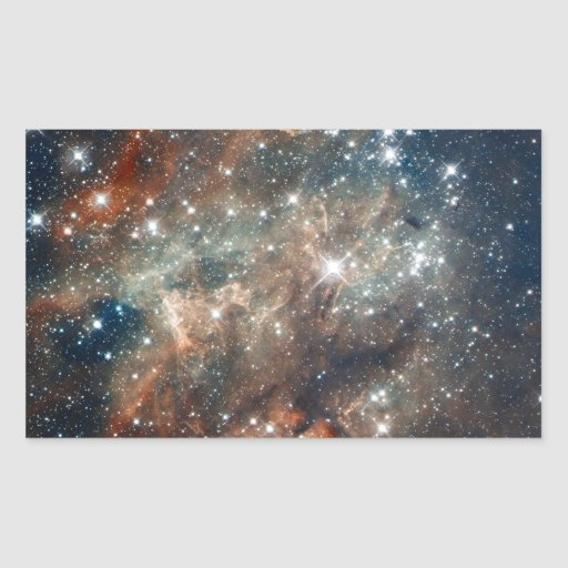 Close-up of the Tarantula Nebula Rectangular Sticker | Zazzle