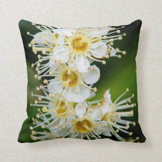 Close-up of tiny flowers throw pillow