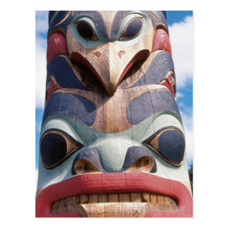 Close-up of totem pole in Sitka, Alaska, USA Postcard