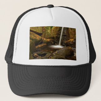 Close Up of Trap Falls in Autumn Trucker Hat